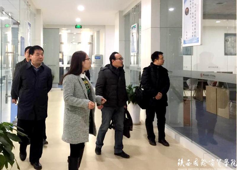 经济管理类综合教学示范中心、宝玉石陈列馆-武汉工商学院来我校考